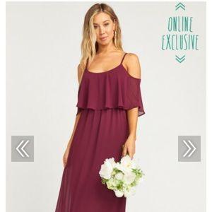 Show Me Your Mumu Caitlin Ruffle Bridesmaid dress